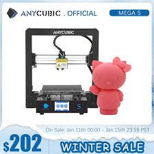 <b>ANYCUBIC Mega S Mega S</b> 3D Printer I3 Mega Upgrade Large Size ...