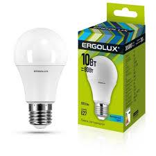 <b>Лампа светодиодная Ergolux</b> 12149, E27, A60, 10Вт — купить по ...