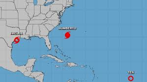 Hurricane Humberto nears Bermuda; Texas faces flooding from Imelda
