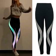 Orginaltree Women Glowing Sports Yoga Pants Rainbow <b>Reflective</b> ...