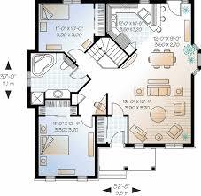 Economical Bedroom Brick House Plan   DR   st Floor Master    Floor Plan