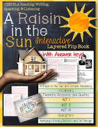 a raisin in the sun reading literature guide flip book sun the a raisin in the sun interactive layered flip book
