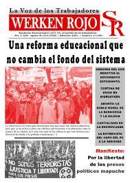 Periódico WERKEN ROJO  N° 3  La Voz de los Trabajadores