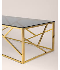 <b>Журнальный стол</b> 120*60 АРТ ДЕКО стекло smoke сталь золото ...