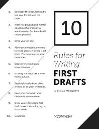 images about writing in middle and high school on pinterest   rules for writing first drafts poster
