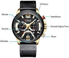KKmoon <b>CURREN 8329</b> Quartz Watch Business <b>Men</b> Simple Sport ...