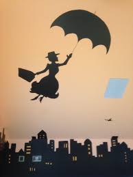 liberty bedroom wall mural:  members included in the mural was et flying on the bike across the moon batman mary poppins and then a full skyline with the statue of liberty