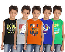 Buy Southtree Boys <b>Round Neck Sleeveless</b> T-Shirt Multi (2y-14y) at ...