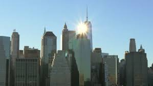 Sun Shining off of the One World trade centre New York Free Stock ...