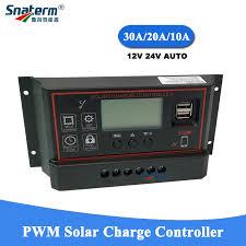NEW PWM Solar Charge Controller <b>12V 24V Auto 10A 20A 30A</b> ...