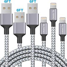 iPhone Charger DABUSTAR 3Pack 6ft <b>Nylon Braided USB</b> ...