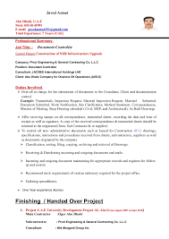 document control resume sample  document controller cv javed asmat    accounting controller resume examples