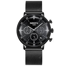 NIBOSI Mens Watches <b>Top Brand Luxury</b> Waterproof <b>Ultra Thin</b> Date ...