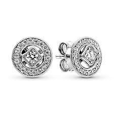 Pandora Jewelry - Vintage Circle Stud Earrings in ... - Amazon.com