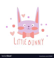 <b>Cute cartoon little bunny</b> colorful hand drawn Vector Image