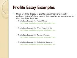 profile essays profile essay examples