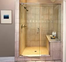 design walk shower designs: glass shower door design ideas with walk in shower ideas plus grey wall for modern bathroom ideas