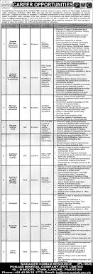job opportunities in punjab mineral company pvt limited lahore job opportunities in punjab mineral company pvt limited lahore announced for general manager operations technical general manager procurement and