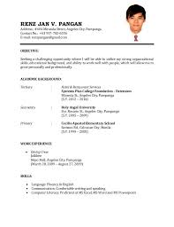 format of a resume for job application templates examples of resume for job application