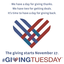 It's #GivingTuesday, okay?