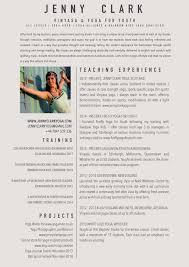 teaching resume jenny clark yoga resume
