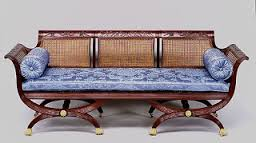 several pieces of duncan phyfe furniture are on display in the green room of the white house which is decorated in a modern day federal style furniture in style