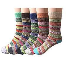 Pack of 5 Womens <b>Vintage Style</b> Cotton Knitting Wool Warm Winter ...