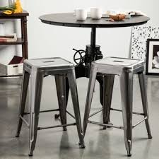curved glass dining bar lovely stools tabouret  inch vintage and gunmetal counter stool set of