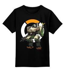 Детская футболка <b>классическая</b> унисекс Overwatch Bastion ...
