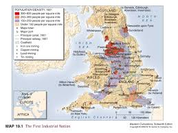 industrial revolution map the industrial revolution