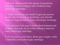 reasons why gay marriage should be legal essays reasons why gay marriage should be legal essay  what are the