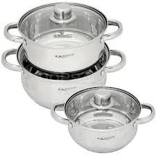 Набор посуды из нержавеющей стали Катунь Гретта КТ-04А ...