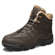 Men's <b>Outdoor</b> Hiking Snow Boots <b>Cotton</b>-padded Shoes Sale, Price ...