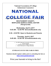 richard montgomery hs guidance counseling office college fair