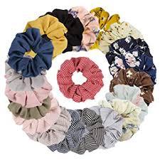 TOBATOBA 20 Pack <b>Hair Scrunchies</b> Chiffon <b>Hair Ties Elastic</b> Hair ...