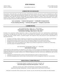 sample administrative manager resume   template   templatesample administrative manager resume