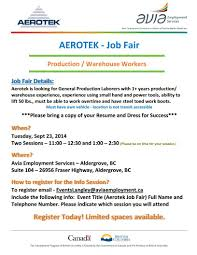 avia employment servicesaerotek job fair aerotek job fair sept 23