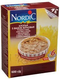 <b>Хлопья 5</b>-ти видов зерен, 600 гр. <b>Nordic</b> 10324489 в интернет ...
