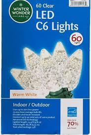 Winter Wonder Lane Cool White LED C6 <b>Solar Light</b> Set <b>100</b>-Count