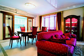 modern elegant red and brown nuance of the beautiful house interior designs that has red sofas beautiful houses interior