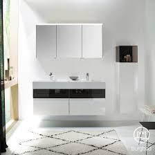 Burgbad Yumo <b>bathroom furniture set with</b> double washbasin with ...