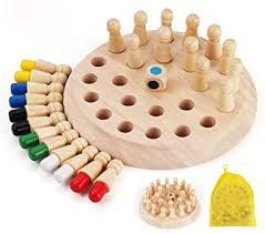 Anstore <b>Wooden Memory</b> Chess, <b>Color Memory</b> Chess, Kids ...