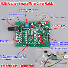 <b>DC 5V 12V 6V 2 phase</b> 4 wire Micro Stepper Motor Driver Mini 4 ...