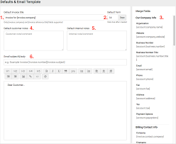 create edit templates accelo now that we re done defining how to invoice your work it s time to define the invoice for yourself the defaults email template section of your invoicing
