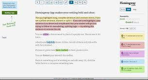 instantly improve your writing these editing tools ny the hemingway app is a wildly popular online editor that improves your writing it s easy to and aesthetically pleasing all of its bright colors
