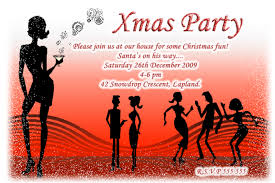 personalised xmas christmas disco dance cocktail party invitations personalised christmas party invitations