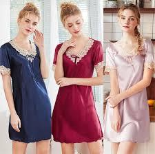 2019 New Fashion <b>Simulation Silk</b> Ladies Pajamas New <b>Women</b> ...