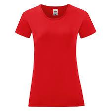 <b>Футболка женская LADIES</b> ICONIC 150; Красный; хлопок 100 ...