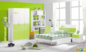 Terrific Youth Modern Bedroom With White Green Wall Paint Idea And Study Desk Built