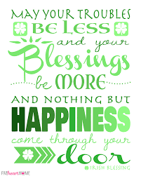 St. Patrick's Day Free Printable ~ Irish Blessing via Relatably.com